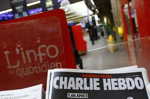 Det franska satirmagasinet Charlie Hebdo utsattes för en terrorattack för två år sedan.
