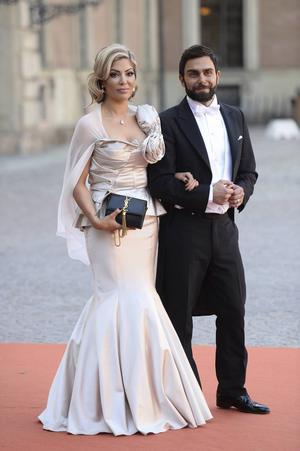Kändisfrisören Marwan Marre Hitti tillsammans med sin fru när prisparet gifte sig i somras.
