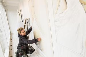Janina Stoor har öppnat ett drive in galleri i Gnarp.