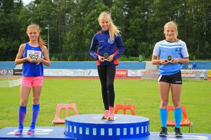 Ida Backlund från Gefle IF, till höger, med sitt brons.