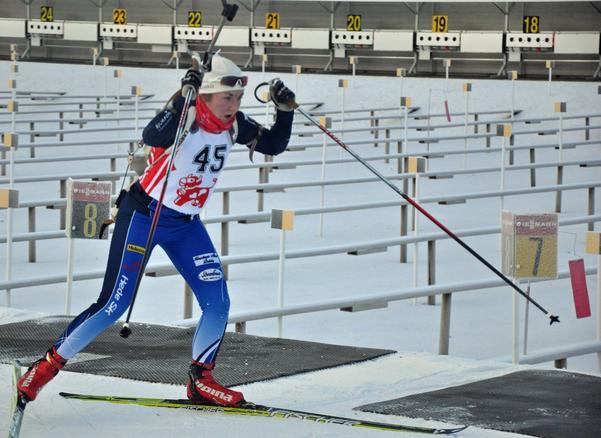 Linn Larsson, Hede SK, gjorde bra ifrån sig när hon tävlade i IBU-cupen.