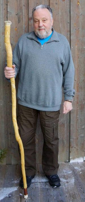 Årets Gregorius, Bo Lundmark, med sin stav.