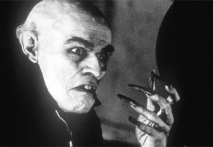 """Klassisk vampyr. Willem Dafoe i urvampyrsgestalt från filmen """"Shadow of the vampire""""."""