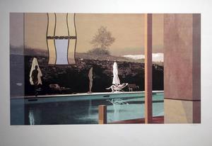 """Nils-Erik Mattssons litografi """"The white cloud""""."""