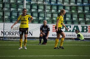 Emma Svärd var vass på högerkanten men brände några fina lägen under matchen.