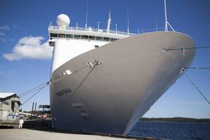 Asylskeppet Ocean Gala har nu stått i Härnösands hamn i mer än en månad.