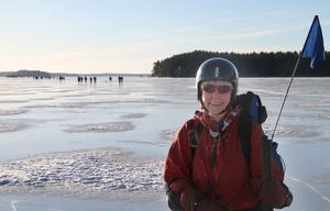 Inga-Greta Andersson säger att deltar för att umgås med andra, få motion och se vackra vyer.