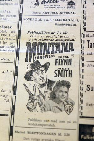 """Errol Flynn var """"Publikhjälten nummer 1"""", enligt bioannonsen."""