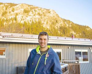Den österrikiske slalomveteranen Mario Matt tränar i Funäsdalen inför världscupen. Slalombacken ligger på baksidan av Funäsdalsberget, som syns i bakgrunden.