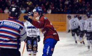 Daniel Liw, här i en av semifinalmatcherna mot Sirius förra säsongen, tror på en rolig helg i Västerås.