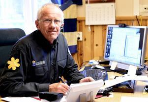 Arne Näsvall på länsstyrelsens kontor i Idre.
