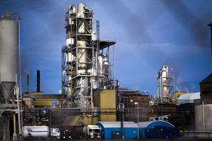 Det var från Arizona chemicals fabriksområde som den senaste oljeläckan inträffade.