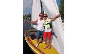 Mats Olsson och Annika Lindell tog hem segern med sin Matador. FOTO: KRISTINA VAHLBERG