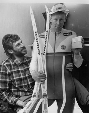 Wassberg och Gunde var konkurrenter i spåret.
