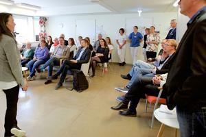 Mia Carlund pratade om en ny teknik som är trivsam och inte stör vårdmötet.