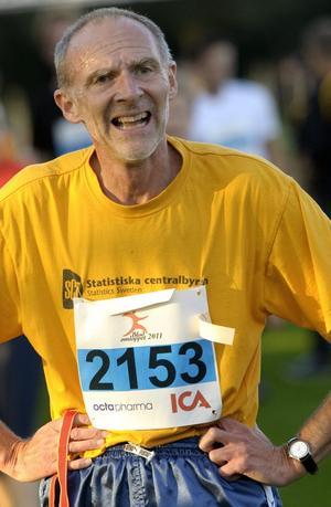 Veteran. Göran Eriksson var nöjd med sin insats i Blodomloppet. I år sprang han loppet för elfte gången.