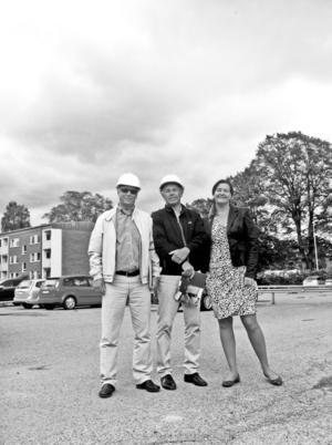 Kenneth Levin, Lars Tobé och Eva-Lotta Sandberg ser fördelar med att samla olika boendeformer för äldre.