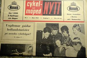 Nytt på hojfronten. Tidningen Cykel och Mopednytt berättade förstås om invigningen av Örebros första trafiklekskola i början av sextiotalet.