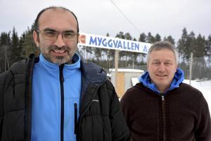 Selim Tahiraj och Peter Modén berättar om den satsning som Fränsta IK inlett gentemot nyanlända ungdomar.
