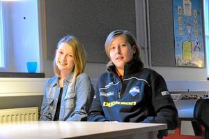 Astrid Gunnarsson och Douglas Funke representerar Järntorgsskolan 5A i Vi i femman.