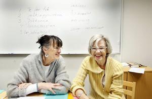 Karen Cooper och Görel Stephansson leder tillsammans skrivkursen på Birka. Att tänka fritt, är deras främsta tips till den som vill börja skriva.