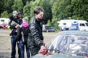 Erik Magnusson, Krokom, slutade trea i rallycross i årets Sponsorcup.