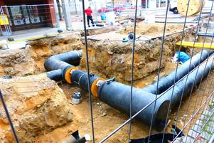 Alla avlopps- och vattenledningar ska bytas i samband med renoveringen.