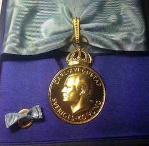 Så här ser en kunglig medalj av tolfte storleken ut.