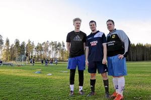Ledarstaben. Erik Wallström, Johan Bååk och Erik Carlsson