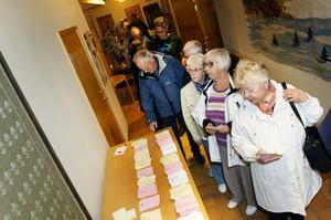 Det var kö för att rösta mest hela dagen.