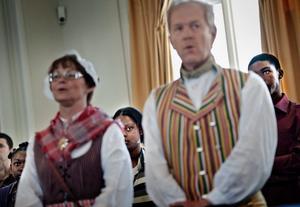 Nya medborgare hälsades välkomna till Sverige i Rådhuset i dag.