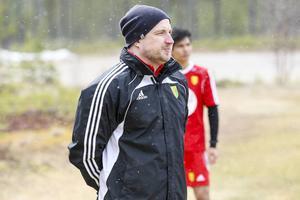 Maksym Kornilov, spelande tränare i Sveg, här från en träningsmatch tidigare i våras.