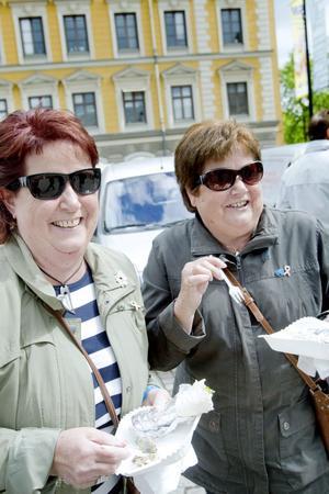 GOTT. Agneta Hedblom, Gävle, och Kerstin Åberg, Bomhus, gillade strömming smaksatt med citron