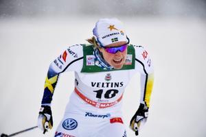 RUKA 20161126 Hanna Falk i lördagens sprinttävling vid premiären av världscupen i skidor i finska Ruka.Foto: Anders WIklund / TT kod 10040