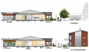 """bomhus parkhus. Köparen Realoption vill döpa om området och husen till """"Bomhus Parkhus"""". Utbildningslokaler, seniorboende eller olika typer av vårdboenden är tänkbara, menar företaget."""