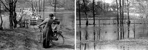 År 1977 skapade vårfloden stora översvämingar i Örebro. Bilderna är från maj månad i Karlslund.