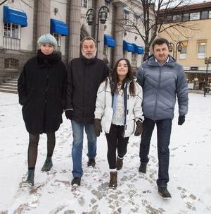 Ellen Holmberg, Anders Bergman, Mariel Estrella Näslund och Jasenko Omanovic från 5i12.