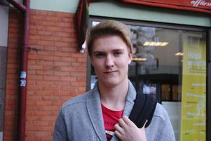 Rasmus Thelin, 16 år, Helixgymnasiet:– England. Jag kan engelska flytande och tror att kulturen där liknar vår kultur.