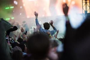 Publik under Bråvallafestivalen strax utanför Norrköping som började under onsdagen. De ingår i Livemusik Sverige som nu ska kartlägga festivalbesökarnas upplevelse.