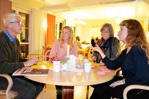 Idésprutor. Ulf Hildebrandt, Karin Linderoth, Eva Wikman och Alexandra Wingate lämnade en rad önskemål till arbetet med den nya kulturplanen för länet.