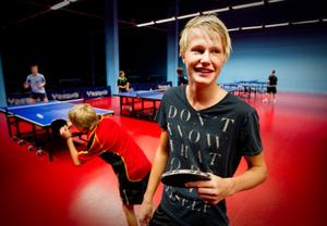 Anthon Wallanger trivs bra i Söderhamn och på pingisgymnasiet.