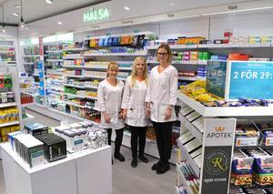Den nyanställda personalen. Från vänster: Sara Holgersson, Maria Mossberg och Marie Henningsson.