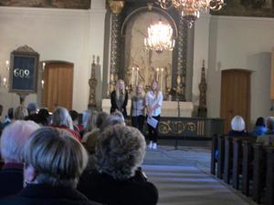 Årets konsert för Världens barn i Ovanåkers kyrka var mer välbesökt än förra årets.