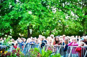 Spänningen var olidlig för fansen som väntade på Oskar Gyllenhammar.