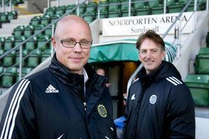 Klubbchefen Örjan Folkesson och ordföranden Eric Bäcklund.