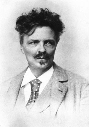 På bilderna ler August Strindberg aldrig, men hans ord skrattar hela tiden. Foto: Pressens Bild