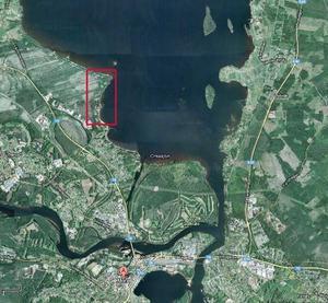 Näsuddsvägen ligger inom det rödmarkerade området i norra Kråkberg. Foto: Google