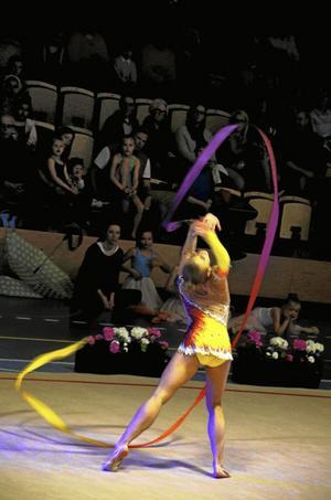 Eliten. Landslagsgymnasten Anastassia Johansson.