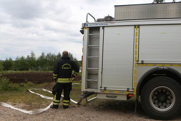 Larm om brand utanför centrala Sveg.