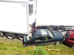 Strömsundsbon Peter Balkman och hans sambo hade lämnat sin bil en minut tidigare när den krossades av ett lastbilssläp.